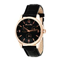Pere de Temps Unisex Automatic Mechanical WatchStainless Steel with Rose Gold Overlay Power Reserve