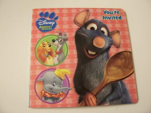 "Disney Animals Educational Board Books ~ You're Invited (Dinner is Served) (7"" x 7"") - 1"