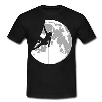 Spreadshirt, escalade, Tee shirt classique Homme, noir, S