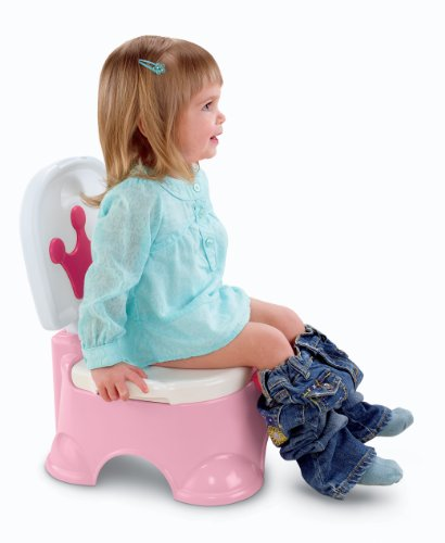 Fisher-Price Pink Princess Stepstool Potty, Pink Princess