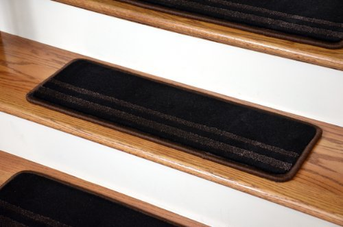 Dean Premium Carpet Stair Treads - Black and Brown 27