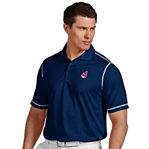 MLB Cleveland Indians Mens Icon Desert Dry Xtra Lite Polo by Antigua