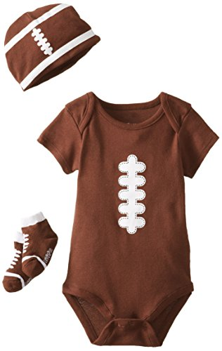 Lovespun Baby-Boys Newborn Football 3 Piece Creeper