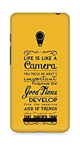 AMEZ life is like a camera Back Cover For Asus Zenfone 5