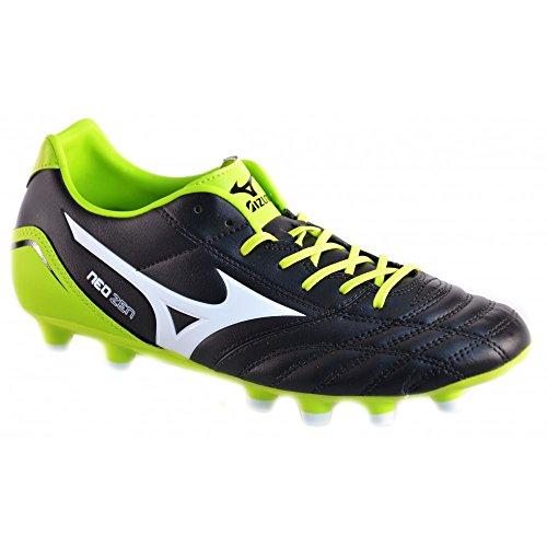 Mizuno - Mizuno Neo Zen MD Scarpe Calcio Football Pelle Tacchetti Top Gamma 141437 - Nero, 40,5