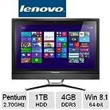 Lenovo C460 21.5-Inch All-in-One Touchscreen Desktop (57327734) Black