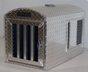 diamond deluxe aluminum dog crate