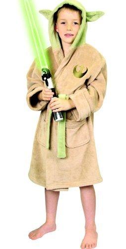 Star Wars Yoda cbkoa l'accappatoio - panni da spiaggia & mare cappotti, Crema, m