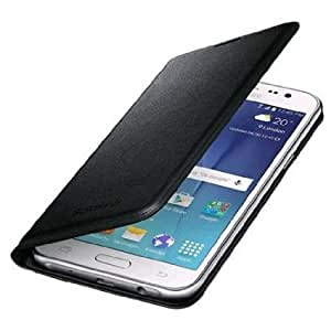 Leather Flip Cover For Samsung Galaxy E5 + Tempered Glass
