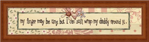 My Finger May Be Tiny But I Can By Jo Moulton Pink Sign 19.25X5.25 Framed Print Picture Wall Decor front-337148