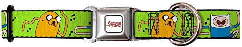 Adventure Time Animated TV Series Finn & Jake Dance Party Seatbelt Pet Collar