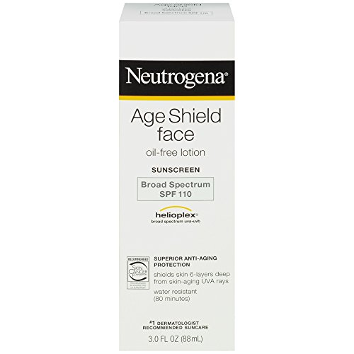 Neutrogena Age Shield Face Oil-Free Lotion Sunscreen Broad Spectrum SPF 110, 3 Fl. Oz