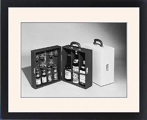Framed Print Of Portable Drinks Cabinet front-593997