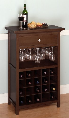 Wine Cabinet with Drawer and Glass Holder