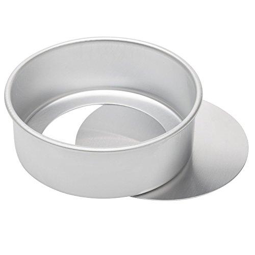 dealglad® 8 x 3 pouces Cheesecake Pan mousseline de soie Moule Moule à gâteau rond avec fond amovible en aluminium anodisé
