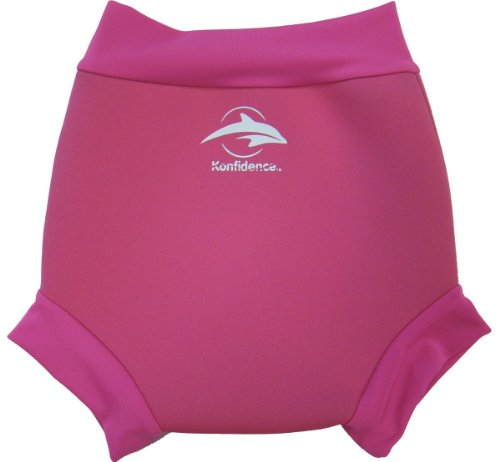 Konfidence Baby Girls Neo Nappy Swim Diaper Cover 18-24 Months Fuchsia/Pink