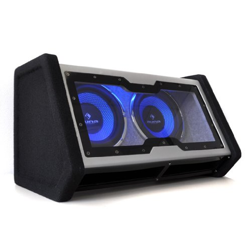 Auna-C8-Sub-2x10-42-Doppel-Subwoofer-mit-Auto-Lichteffekt-2x-25-cm-2x-10-Zoll-2000-Watt-schwarzsilber