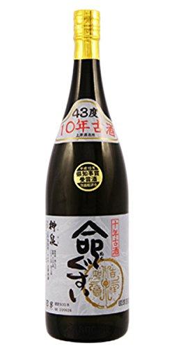 泡盛 命ぐすい 神泉10年古酒 平成19年県知事賞受賞泡盛43度 1800ml 上原酒造