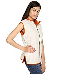 Rajrang High Quality Cotton Striped Off White Jacket