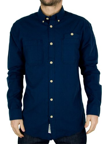 Jack & Jones Dress Blue West Shirt - Size: XL