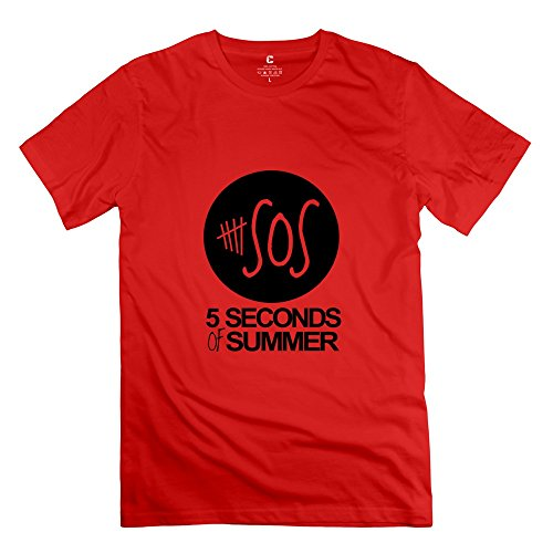 Tasy Men'S 100% Cotton 5Sos T-Shirt