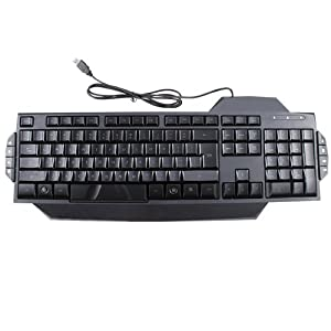 AGPtek® Blue & Red LED Illuminated Ergonomic Backlit USB Wired Gaming Keyboard (Anti-skid with stand)