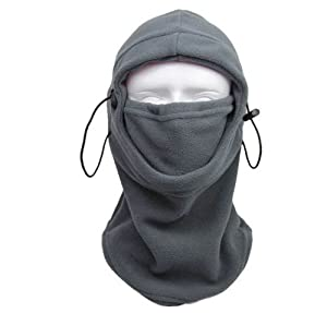 Amcctvshop Motorcycle Fleece Neck Hat Winter Ski Full Face Mask Cover Cap