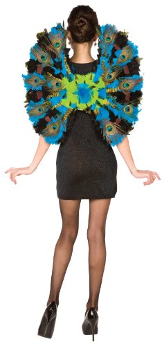 BuySeasons Women's Peacock Wings One-Size Blue