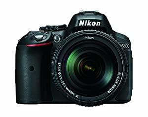 Nikon D5300 24.2 MP CMOS Digital SLR Camera with 18-140mm f/3.5-5.6G ED VR AF-S DX NIKKOR Zoom Lens (Black)