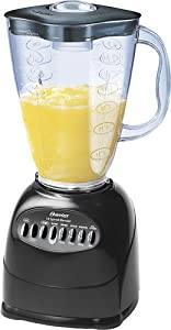 Oster 6706 6-Cup Plastic Jar 10-Speed Blender, Black