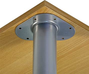 un lot de de 4 pieds de table en acier hauteur 90 90 cm 60 mm mat argent hauteur. Black Bedroom Furniture Sets. Home Design Ideas