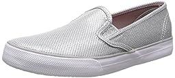 Sperry Top-Sider Seaside Slip On Sneaker (Little Kid/Big Kid),Silver,3 M US Little Kid