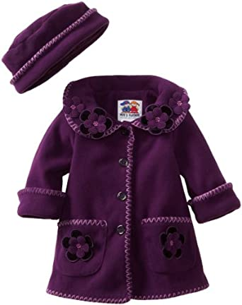 Good Lad Baby-Girls Infant Fleece Jacket, Purple, 12