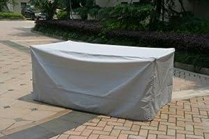 Housse protection table de jardin rectangulaire 735941 jardin - Protection transparente table ...