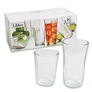 Libbey 8 Piece Glassware Set(4 Beverage 12 Oz. & 4 Coolers 18 Oz.) by Libbey