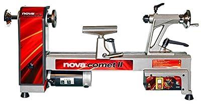 NOVA 46300 Comet II Variable Speed Mini Lathe 2013 Edition, 12-Inch x 16 1/2-Inch, Silver