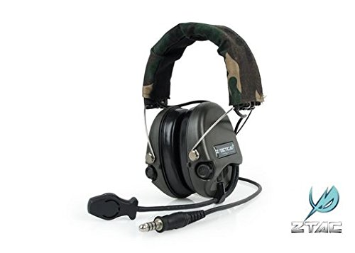 AIRSOFT ZTactical SORDIN MIC BOOM RADIO WOODLAND @ HELMET WORLD