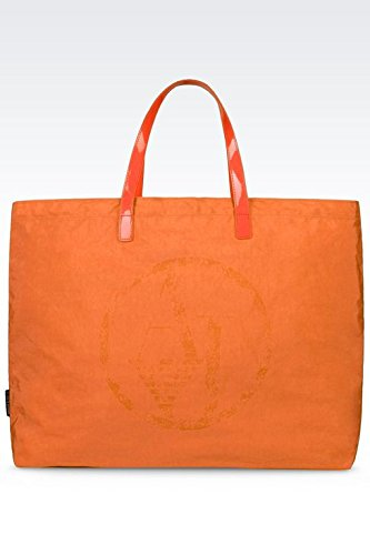 ARMANI JEANS NYLON SHOPPING BAG C522XU4-L4 ROSSO ARANCIO