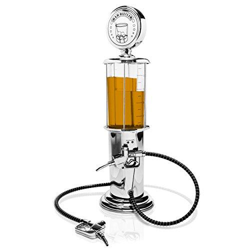 """Zapfanlage """"Tanksäule"""" Getränkespender - 2 Tanks & 2 Zapfhähne - transparent - für kalte alkoholische oder alkoholfreie Getränke"""