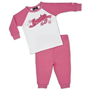 NFL Philadelphia Eagles Girl's Thermal Pajamas (2-Piece), Pink, 3T