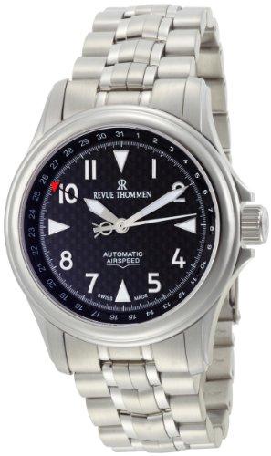 [レヴュートーメン]REVUE THOMMEN 腕時計 AIRSPEED CARBON POINTER DATE 16040.2137 メンズ 【正規輸入品】