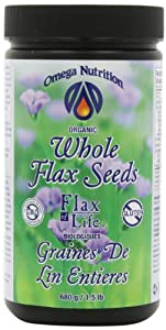 Omega Nutrition Whole Flax Seeds, Flax of Life, 16 Ounce (Pack of 2)