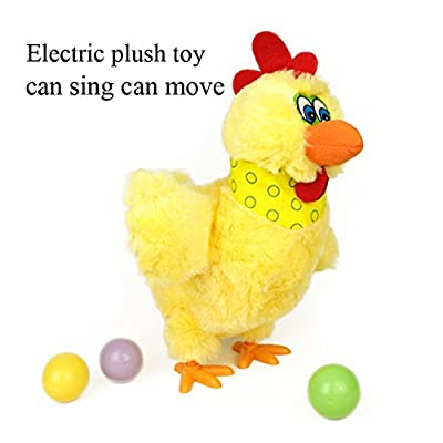 Kinglang Laying Eggs Chicken Plush toy Electric Hen Musical Dancing Funny Educational Baby Kids Toy