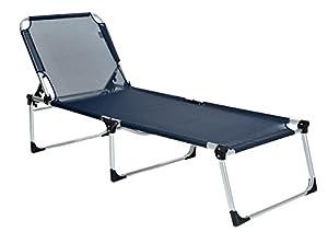 xxl sonnenliege mit alu gestell dunkelblau extra breit platzsparend. Black Bedroom Furniture Sets. Home Design Ideas