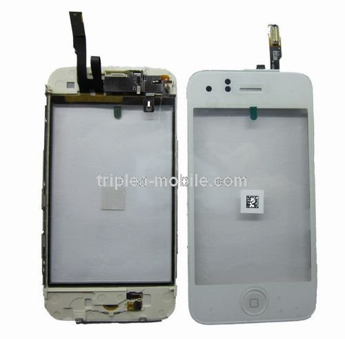 Yagadget White Iphone 3Gs Digitizer Touch Screen Glass Replacement + Frame