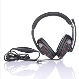 (11712-u) WIRED STEREO GAMER HEADPHONE MIC SOUND FOR SONY PLAYSTATION (USA)