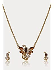 Estelle Gold Plated Necklace Set With Crystals For Women - B00NAX540U