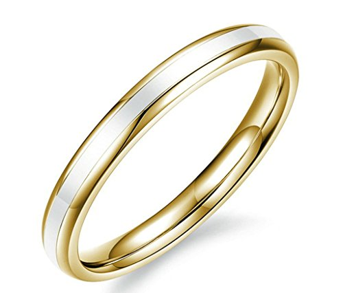 amdxd-jewelry-stainless-steel-womens-engagement-rings-gold-polished-simple-ring-size-j-1-2