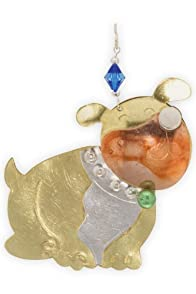 Pilgrim Imports Bulldog Metal Fair Trade Ornament
