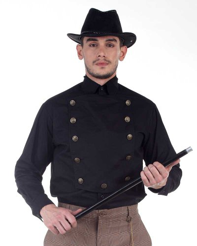 Steampunk Victorian Costume Black Airship Shirt